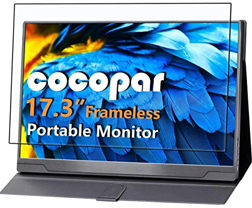 Cocopar Portable Monitor - Upgraded 17.3 Inch 1080P FHD IPS HDR 100% sRGB FreeSync USB-C Gaming Monitor with Type-C Mini HDMI for Xbox PS4 Nintendo Switch Laptop PC Phone Mac Surface, VESA mountable