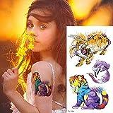 tatuaggio manica modello autoadesivo del tatuaggio tatuaggio per le donne angelo ala tigre tatoo tatuaggio tribale trasferimento di acqua tatuaggi da u TL134