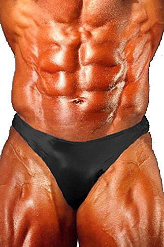 Andreas Cahling Bodybuilding Physique Original Posing Badehose Suit Slip -  Schwarz -  Medium