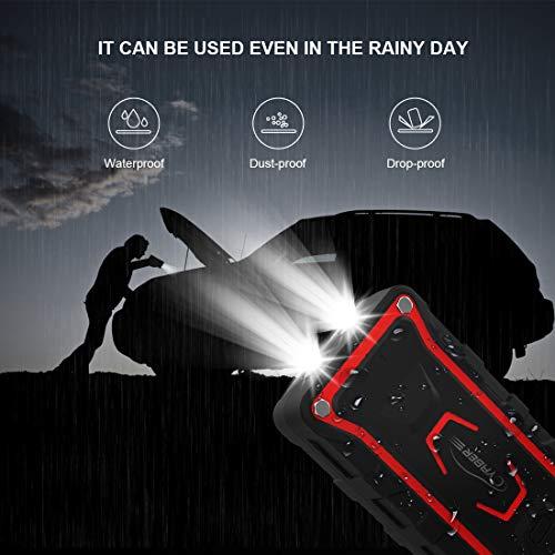 YABER Avviatore Batteria Auto, 1600A 20000mAh Avviatore Emergenza per Auto (Adatto a Tutti i Veicoli a Benzina o 7.0L Diesel) Impermeabile IP68 Booster Avviamento Auto con QC 3.0,Torcia a 2 LED