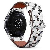 Compatible con Samsung Galaxy Watch (46 mm) - Correa de Reloj de Cuero con pasadores de liberación rápida (Camiseta de Marinero Scottish Terrier)