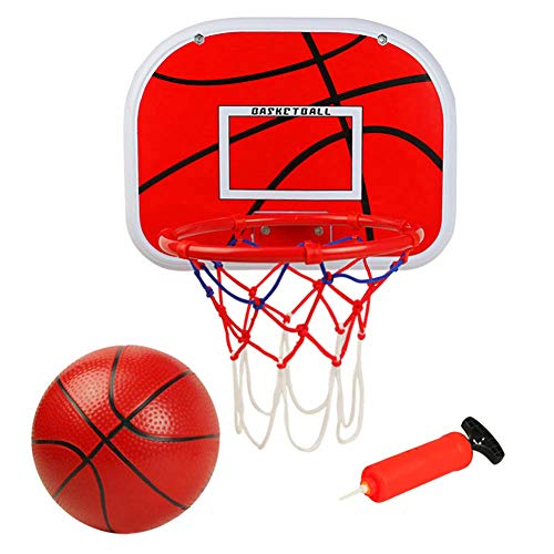 Sayiant Basketballkorb,Basketball Kinder Spielzeug,Mini Basketball Kinder Sport Outdoor Indoor Basketballkorb Spielzeug mit Bälle Pump für Kinder Jungen Mädchen ab 5 6 7 8 Jahren