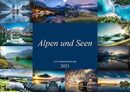 Alpen und Seen (Wandkalender 2021 DIN A2 quer)