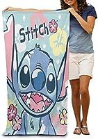 スティッチ Stitch ビーチタオル バスタオル 速乾 軽量 薄手 マイクロファイバータオル プール 海水浴 旅行用タオル おしゃれ 大判 80*130cmヨガラグ