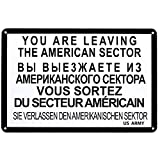 Letrero de metal'Te vas', 20x30 cm. Nostalgia de Berlín. Decoración del Muro. Letrero retro de época.