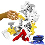 Quaggle Stacking Balance Game - Wood Blocks - Premium Suspend Game - 2 to 12 Players for Kids, Adults, Family - Develop Hand-Eye Coordination - STEM Toy - Exciting Board Game, Party Game - Great Gift