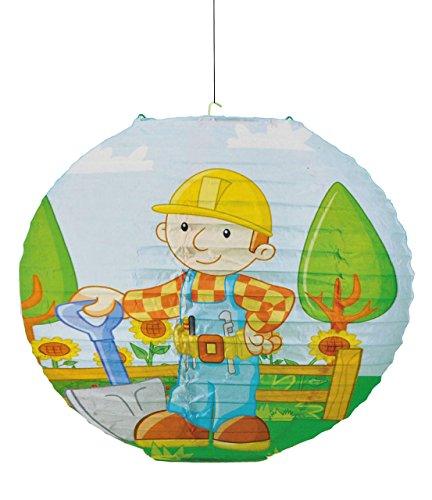 alles-meine.de GmbH Papier Laterne / Lampenschirm - Bob der Baumeister für Kinder - Papierlaterne Laternen Lampion Lampions - Baustelle Kinderzimmer für Jungen Bagger