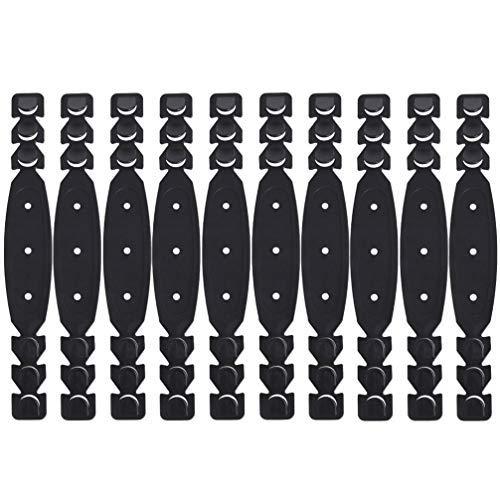 NUOBESTY NUOBESTY Gürtelriemen, 10 Stück Abdeckband Verlängern Anti-Ohrenschmerzen Ohrhaken Einstellung Artefakt Verlängern Gürtel (Schwarz)