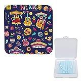 Yuzheng Caja De Almacenamiento De Mascarilla Portátil Ciudad De México Animada Clip De Almacenamiento Anticontaminación Para Máscaras 13cmx13cm
