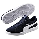Puma Puma Smash v2, Sneakers Basses mixte adulte - Bleu (Peacoat-Puma White), 44 EU