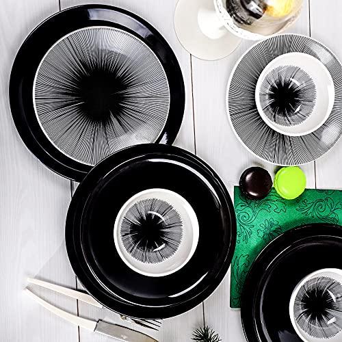 Vajilla de 24 piezas para 6 comensales, diseño vintage de Bing Bang