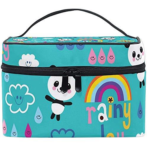Regenbogen Regenschirme Bären Make-up Tasche Kosmetiktasche, Kapazität und verstellbare Make-up Taschen wasserdichte Kulturbeutel