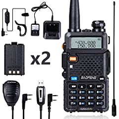 All you need is in one box! Get Extended pack of Baofeng UV-5R radio with 2 1800 mAh Batteries + 1 Baofeng Programming Cable + 1 TD-771 High Gain Antenna + 1 Radio Mic; Reasonable price is the ham radio user and business user top choice Rechargeable ...