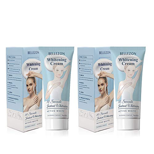 Whitening Cream (2 packs ), effective skin lightening cream, suitable for knees elbows, sensitive and private areas, brightens & nourishes repairs skins