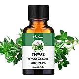 Mishiu Aceites Esenciales Aromaterapia 100% Natural Orgánico Puro Aceite Esencial de 10ML Botella Plana - Tomillo