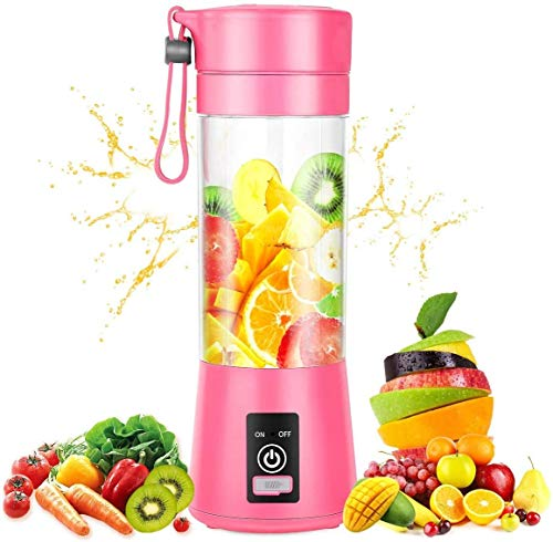 Mimill Personal Blender, Portable Blenders Smoothie Mixer USB Rechargeable Juicer Cup with 6 Updated Blades