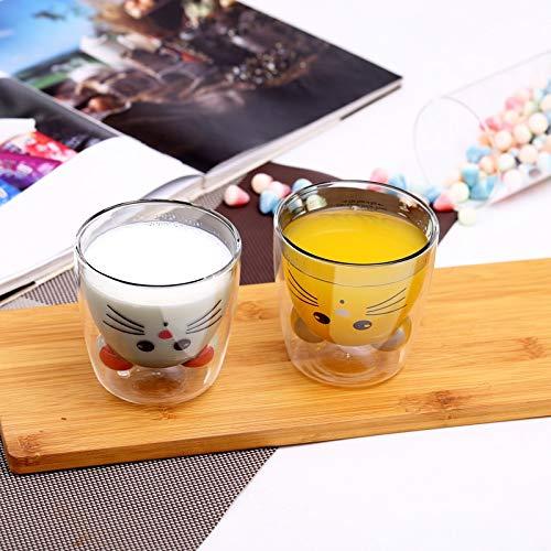 El Vidrio de 400 ml es Muy Adecuado para la Taza de café Latte Leche Cup Cappuccino Taza de Taza Taza de té Postre Copa de Helado Jugo o Bebida Caliente (Color : A)