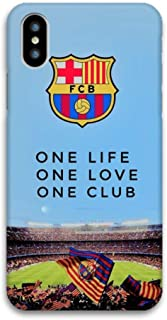 Featuring FC Barcelona FCB Compatible with iPhone Xs Max Soft Protective Case Cover Cool Soccer (C) Quote