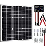 SOLPERK 50W Solar Panel Kit 12V, Monocrystalline Solar Panel Charger Off Grid with Intelligent Waterproof Controller for Boat Car...