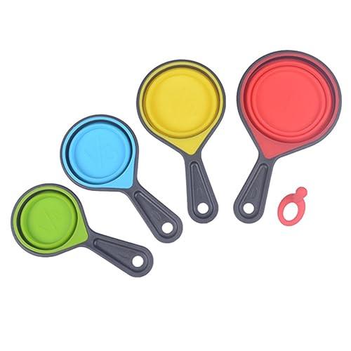 Kitchen Craft Colourworks Four Piece Collapsible Measuring Cup Set