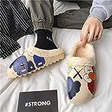 ypyrhh Slip Home Shoes Indoor Outdoor,Zapatillas de algodón de suela suave, zapatillas de interior cálidas-gray_45, Zapatos de casa para interiores y exteriores antideslizantes