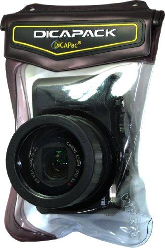 DiCAPac WP-570 Outdoor Unterwassertasche für Samsung, Nikon, Olympus, Pentax & Sony Digitalkamera mit Maßen ca. 120x60x40mm