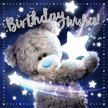 Birthday Wishes Me to You 3D Holographic Hologram Birthday Card