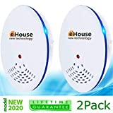 BH-1 Ultrasonic Pest Repeller - Electronic & Ultrasound, Indoor Plug-In Repellent - Get rid of - Rodents, Mice, Rats, Squirrels, Bats, Insects, Bed Bugs, Ants, Fleas, Mosquitos, Fly, Spiders, Roaches!