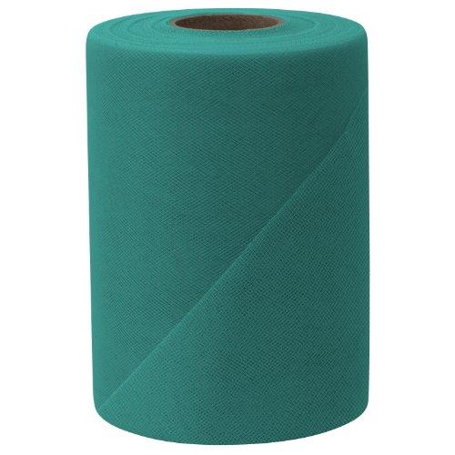 Falk Fabrics Tulle Spool, 6-Inch by 100-Yard, Teal