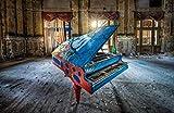 HQHff Piano en ruinas casa en ruinas,Puzzles Adultos 1000 Piezas 75x50cm,3D Puzzles de Madera Adultos Regalo de Juguete Educativo para niños