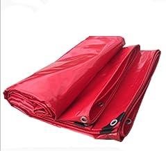 Yxsd dekzeil, dubbelzijdig waterdicht, geperforeerd, geschikt voor tenten, camping, verschillende maten, rood, premium kwa...