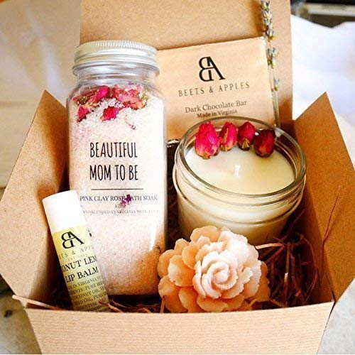Beautiful Mom To Be Gift Basket, Expecting Mom Gifts, Pregnancy Gift Set, Gift ideas for Mom To Be, Organic Spa Care Package (Katja Kassin Mommy Blows Best)