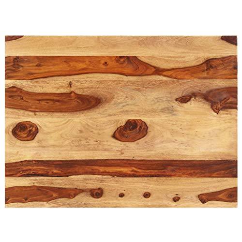 vidaXL Sheesham-Holz Massiv Tischplatte Massivholzplatte Holzplatte Ersatztischplatte Holz Platte für Esstisch Palisander 15-16mm 70x80cm