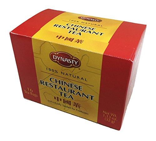 Dynasty 100% Natural Tea 16 Individual Tea Bags Per Pack (Chinese Restaurant, 6 Pack)
