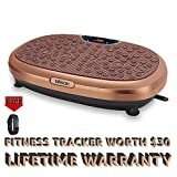 EILISON FitMax KM-818 3D Vibration Plate Exercise Machine with Loop Bands - Full Body Vibration Platform Machines for Home Fitness, Shaping, Training, Recovery, Wellness, Weight Loss (Jumbo Size)