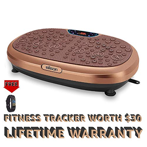 EILISON FitMax KM818 3D Vibration Plate Exercise Machine with Loop Bands  Full Body Vibration Platform Machines for Home Fitness Shaping Training Recovery Wellness Weight Loss Jumbo Size