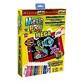 Magic Pad XL Tableta mágica 50% más Grande con 12 marcadores de neón y 8 Efectos de luz Brillante.