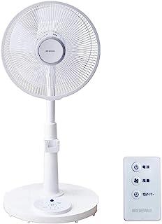 アイリスオーヤマ 扇風機 首振り リモコン付 風量3段階 タイマー機能付き 換気 リビング扇 ホワイト PF-M302RA-W