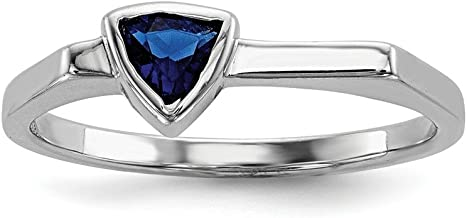 925 Sterling Silver Triangle Blue Glass Stone Band Ring Cz Fine Jewelry For Women Gift Set