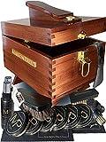 Caja Limpiabotas De Madera | kit de limpieza para zapatos de cuero y de gamuza | kit de betún universal para todos los colores de calzado