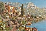 YANCONG Puzzle Personalizado 300 Piezas, Vista De Riva En El Lago De Garda Rompecabezas para Niños 38X26Cm