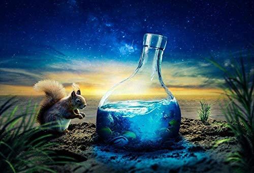 Ardilla De Fantasía Y El Mar En Una Botella 200 Piezas Puzzle Decoración para El Hogar Juego De Rompecabezas De Relajación Brain Challenge Juguetes Intelectuales DIY Regalo