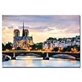 VVSUN Sonnenuntergang Stadt Notre Dame de Paris Frankreich