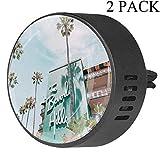 Decoraciones Beverly Hills Coche Difusor Ambientador de regalo con sabores Aceite esencial Aromaterapia 2 Pack Orquídea