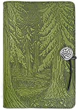 Evergreen Forest American-Made Embossed Leather Writing Journal Cover, 6 x 9-inch + Refillable Hardbound Insert Book