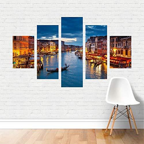 Quadro Canal De Veneza Itália Europa Tela Canvas