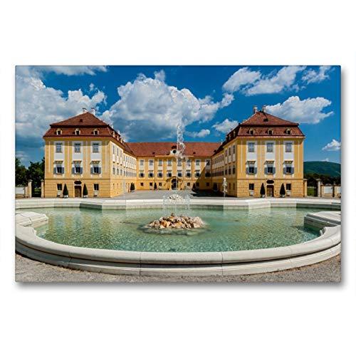 CALVENDO Premium Textil-Leinwand 90 x 60 cm Quer-Format Schloss Hof – Die Perle unter den Marchfeldschlössern, Leinwanddruck von Alexander Bartek