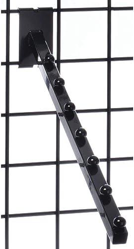 Grid Display Panel Waterfall Display Arm 7-Ball Hook Black