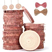 30-Piece Awolf Natural Wood Slices
