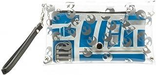 """Star Wars R2-D2 Rebel Alliance Clear Envelope Wallet w/ Wristlet & Mini Zip Wallet, 8"""" x 5"""""""